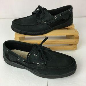 SPERRY Top-Sider Suede Shoe Boat Women's 9M Black